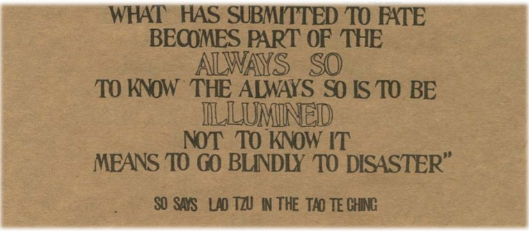 to blindly go
